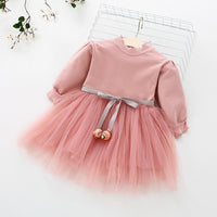 Baby girl clothes baby girl dress stitching tutu mesh dress flower baby sweet dress dress cotton princess dress