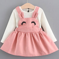 Melario New Baby Girls Dresses Autumn Baby Girls Clothes Casual Cartoon Cat Kids Princess Dress Cotton Newborn Kids Clothing