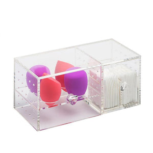 Clear Cosmetics Organizer Acrylic Makeup Storage Case Dustproof Table Cosmetic Container