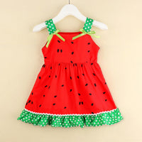 2019 Summer Girl Dress Infant Baby Girl Watermelon Slip Dress Casual Summer Hoilday Long Top 0-5Year