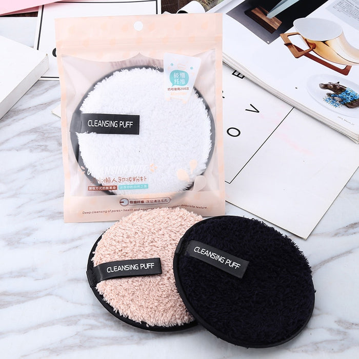 Remover Puff Microfiber Cloth Pads Remover Towel Face Cleansing Makeup For Women