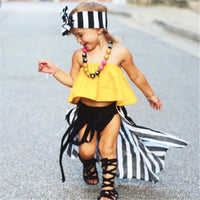 Summer Girls Sleeveless T-shirts Children's Clothing Fashion Kids Outerwear Baby t shirts 0-24M