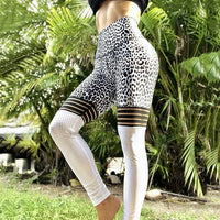 Women Fitness Leggings Casual Workout Pants Pencil Stretchy Trousers Gradient Legging Skinny Leggins Gothic Mesh Insert Leggings