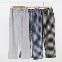 Mens and Womens Cotton Home Pajama Pants Cotton Plaid Sleep Bottoms Sleeping Lounge Pants Plus Size Sleep Wear for Lounge Wear
