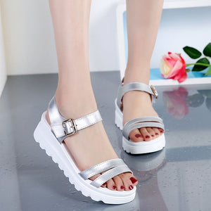 YOUYEDIAN Women Sandals 2019 Fashion Wedges Summer Sandals Women Casual Shoes White Platform Sandals Sandalias Mujer