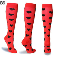 Unisex Women&Men Ladies Sports Profession Compression Socks for Nurses Relief Stretch Breathable Women Happy Thigh High Socks