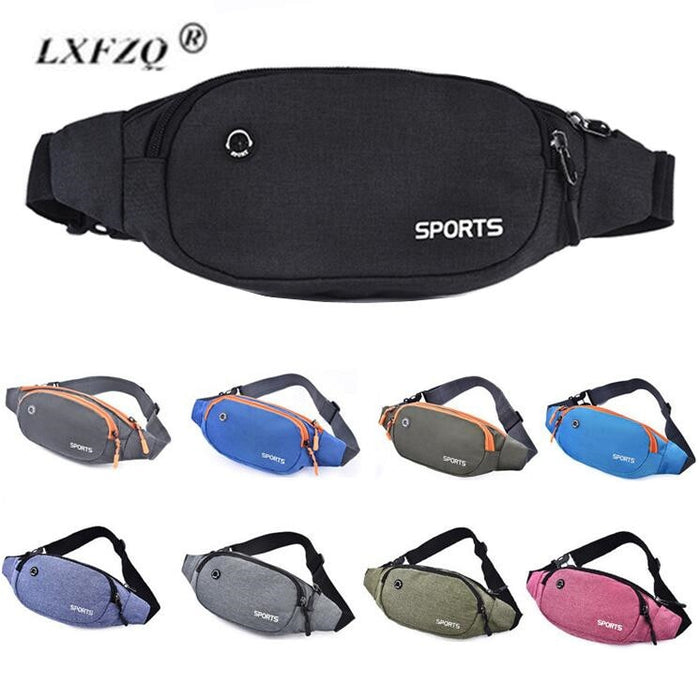 Money Belt Nylon Waist Pack Men Women Pink Chest Bags Multifunction Fanny Pack Bum Bags Hip Travel For Mobile Phone Bag Unisex