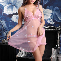 Hot Sale Fashion Flower Print Nightwear Costume Porno Sexy Women Lace Lingerie Transparent Underwear Exotic Babydoll Sleepwear