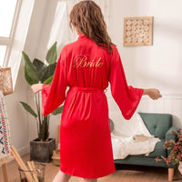 Bridesmaid Robes Solid Color  Robe Bride Elegant Sleepwear Sexy Women Dressing