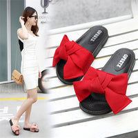 2019 new slippers female summer bow summer sandals slippers indoor outdoor flip flops beach shoes women fashion shoes