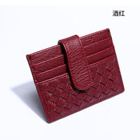 purse Card 2019 new factory adies woven card men's card wallet