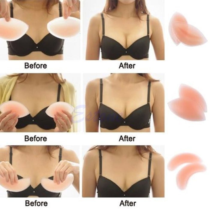 Breast Enhancer Pair Silicone Push Up Gel Bikini Bra Pads Chicken Fillets Insert