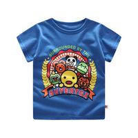 Baby Clothing children t shirts Space rockets Print Kids Baby Boy Tops Short Sleeve T-Shirt Summer Tee