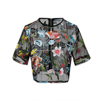 Summer Flower Beach Womens Blouses Ladies Transparent Sexy Women's Blouses Tops