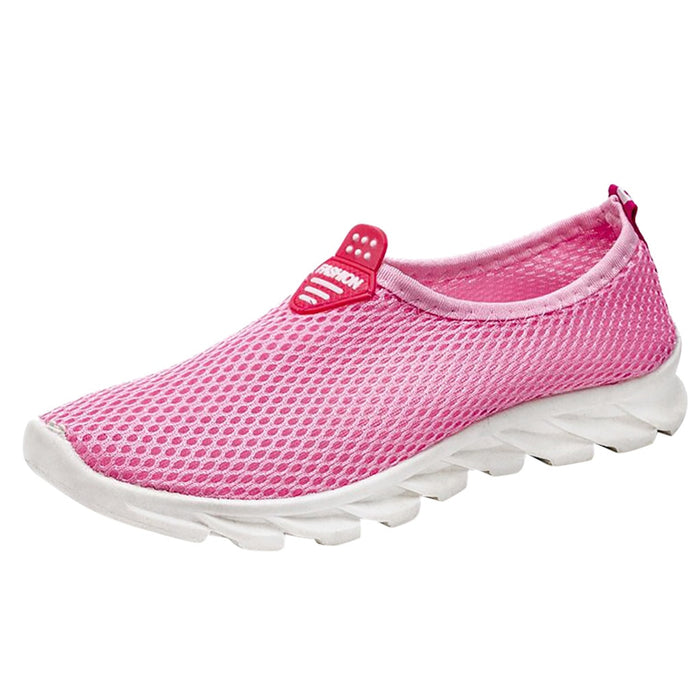 2019 Women Vulcanize Shoes Sneakers Ladies Leisure Breathable Mesh Outdoor Shoes Solid Slip On Fitness Sport Sneakers Shoes