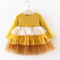 Baby Dresses Autumn Winter Newborn Infant Baby Long Sleeve Tutu Princess Party Dresses For Baby Girls 1st Year Birthday Dress