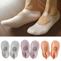 2019 Newest Hot 1Pair Silicone Moisturizing Gel Heel Socks Cracked Foot Skin Care Protector