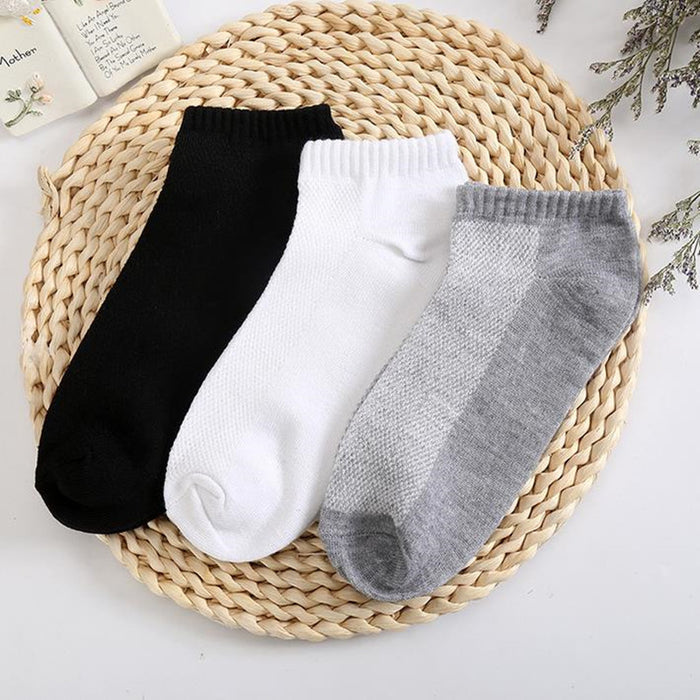 10PC=5 Pairs Men's Short Socks Breathable Low Cut Invisible Boat Socks Slippers Comfortable Ankle Men/Male Socks