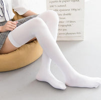 80CM Fashion Sexy Knee High Socks Women Kawaii NUDE Thigh High Woman Compression Girls Long Socks Female Over Knee Socks