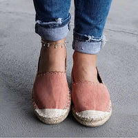 2019 Women Shallow Mouth flats shoes Platform Espadrilles Slip on Round Toe Casual Flat Boat Fisherman Shoes