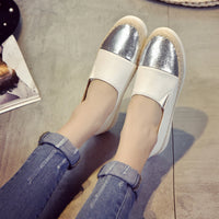 2018 Spring Autumn New Women's Flat Shoes Zapatos Mujer Espadrilles Shoes Sanglaide Ladies Slip On Creepers Flat Loafers Shoes