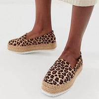 Ladies -Slip Casual Suede Comfortable Espadrilles Women Flats  Loafers Shoes Female Slip-on  Platform Shoes