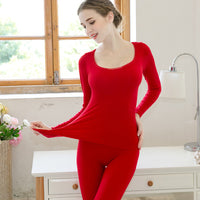 Candy Colors Thin Winter Women Clothes Base Layer Womens Thermal Underwear Set O-neck Sexy Slim Female Second Skin Long Johns