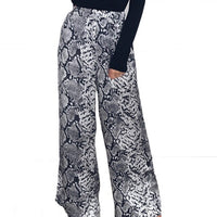 Vintage women Animal leopard printed Palazzo Pants Fashion loose elastic high waist