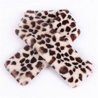 Thick Warm Faux Rabbit Fur Scarf 2019 New Leopard Scarf Women Winter Scarves Luxury