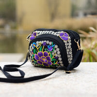 Multi Ethnic Floral Embroidered Women Shoulder&Crossbody bags Hot Vintage Canvas bags