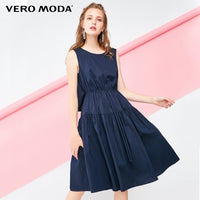 Vero Moda Decorative Drawstring Sleeveless A-line Midi Dress Pure Dress 2019 | 31837A512