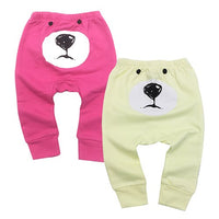 Baby Clothes Baby Pants 2 Pieces Cartoon Toddler Boy Girl Leggings Full Length Elastic Waist Kids Pant Trousers