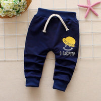 CHILDREN WIT Spring Autumn Baby Pants Cotton Cartoon smiley 2018 New Korea Harlan Pants 0-3 Year Children Baby Boys Girls pants
