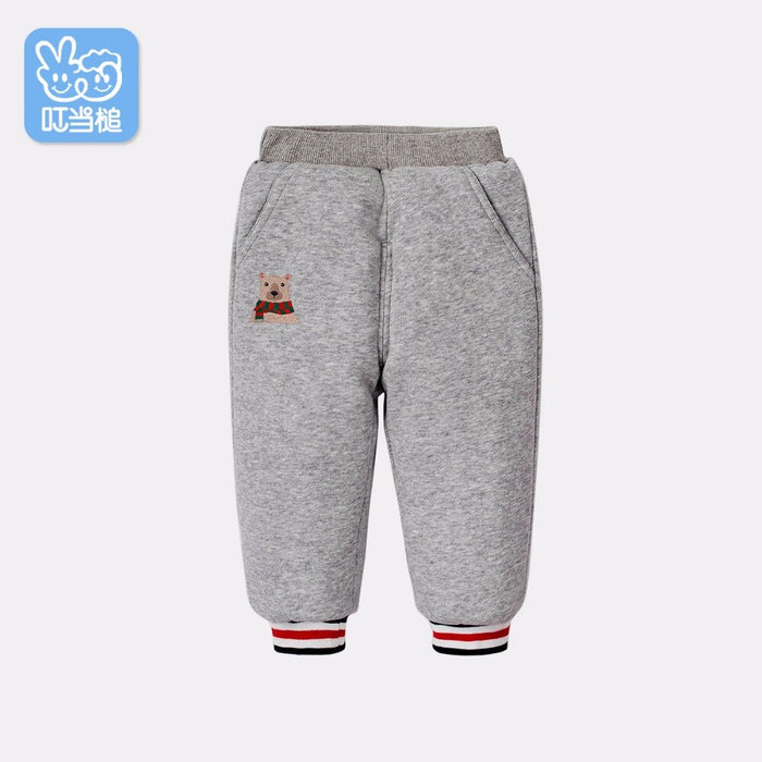 Dinstry Boys And Girls Pants autumn winter thick type of children's soft warm wear Kids Sports Trousers baby Casual Pants
