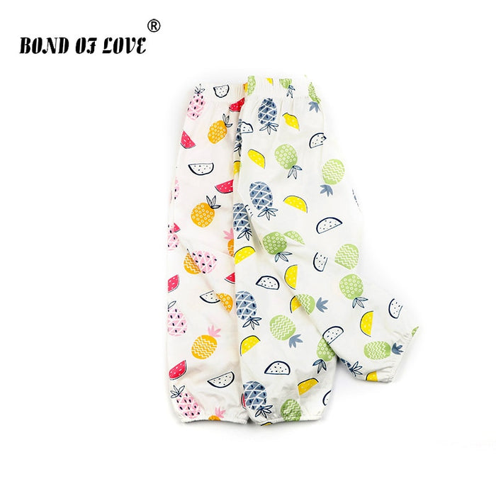 Newborn Baby Pants Pineapple Printed Children Clothing Toddler Boys Girls Full Length Loose Pants Cotton Clothes For Kids