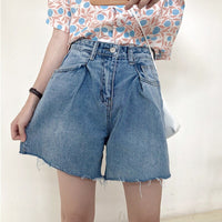 Denim Shorts Summer High Waist Jeans Women Loose Wild Shorts Classic Vintage Female Caual Summer Ladies Shorts Jeans