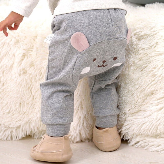 Casual Toddler Bottoms Pants Hot Infant Cartoon Harem Pants Baby Boy Baby girl Animal Trousers 3 color 95% Cotton