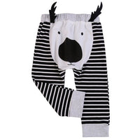 Spring Autumn Baby Pocket Animals Girls Cartoon Kids Pant Pants Elastic Harem Trousers Boys Style