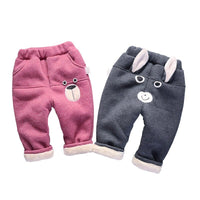 Baby Winter Pants 2019 Autumn Thicken Warm Toddler Clothing Kids Cartoon Causal Trousrer Pants For Boy Girl 0-4 Y Clj295