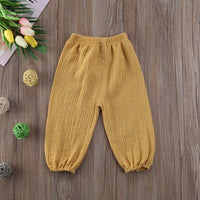 Cute Kids Baby Bottoms Trousers Legging Pants Wrinkled Vintage Bloomers Lettes Trousers Leggings Pants Baby Clothes