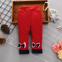 Children's Clothing Baby Leggings Plus Velvet Thickening Autumn Winter Baby Pants Of The Three-Layer Warm Girls Trousers
