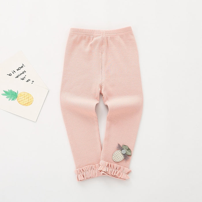 0-4T Baby Girl Pant Kids Leggings Solid Casual Soft Cotton Trousers