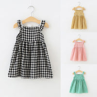 Plaid Baby Dress Soft Cotton Infant Summer Clothes Casual Baby Girls Dress Cute Baby Costumes Princess Dresses