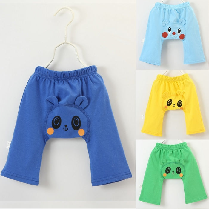 Panda Baby Boy Pant Cute Newborn Clothes Cartoon Bear Baby Trouser 100% Cotton Panties For Girl Legging Children Britches 0-2Y