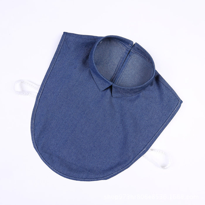 Women Fashion Detachable Collars Blue Jeans Denim Fake Lapel Collar for Shirt Sweater Apparel Accessories
