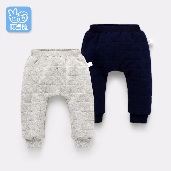 Dinstry autumn and winter  boys and girls children's clothing long pants casual pants cotton trousers winter thickening warm