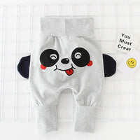 New fashion baby waist high waist pants new cartoon printing children pp pants casual baby trousers