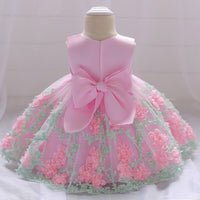 2019 Winter Newborn Baby Girl Dress Lace Big Bow Baptism Dress For Girls 1 year Birthday Party Christmas Dress vestido infantil