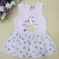 2019 Little Q girls summer short sleeve dress pure 100% cotton o neck lace border baby dresses newborn one piece underdress