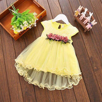 Baby Dress Flower 1 Year Birthday Dress 2019 Summer Baby Princess Dresses Mesh A-line Newborn Clothing Infant Girls Clothes